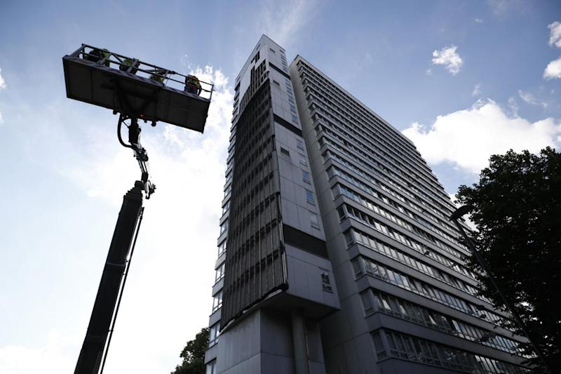 Funding: Councils said they were not being given money for measures such as new cladding (AFP)