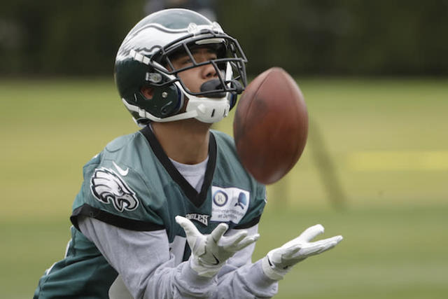 """Philly's <a class=""""link rapid-noclick-resp"""" href=""""/nfl/players/30245/"""" data-ylk=""""slk:Donnel Pumphrey"""">Donnel Pumphrey</a> is a solid late-round fantasy catch says Andy Behrens. (AP)"""