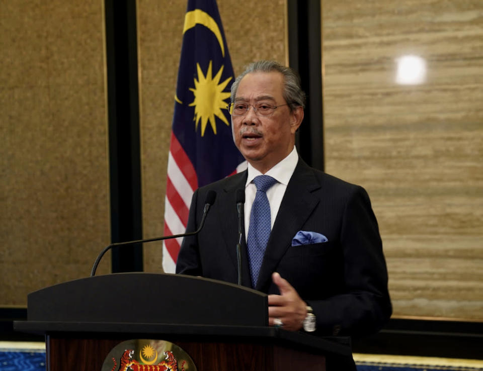 Prime Minister Tan Sri Muhyiddin Yassin speaks during the virtual General Debate of the 75th session of the United Nations General Assembly (UNGA) September 26, 2020. — Bernama pic