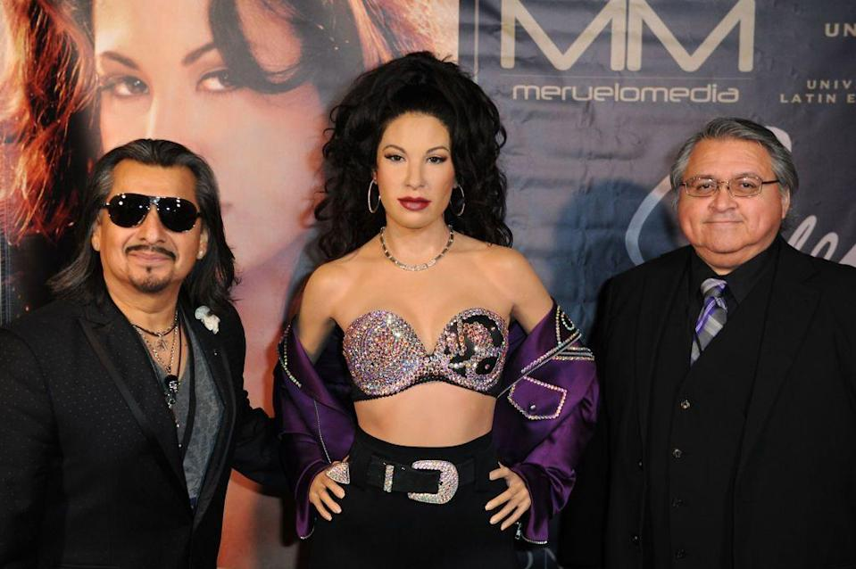 """<p>While Ricky Vela played the keyboards for Selena y Los Dinos, he also helped co-write several of the singer's famous songs like """"<a href=""""https://www.amazon.com/El-Chico-Del-Apartamento-512/dp/B000THB7Z6?tag=syn-yahoo-20&ascsubtag=%5Bartid%7C10055.g.32743619%5Bsrc%7Cyahoo-us"""" rel=""""nofollow noopener"""" target=""""_blank"""" data-ylk=""""slk:El Chico del Apartamento 512"""" class=""""link rapid-noclick-resp"""">El Chico del Apartamento 512</a>"""" and """"<a href=""""https://www.amazon.com/Fotos-Y-Recuerdos/dp/B000TE2GOK?tag=syn-yahoo-20&ascsubtag=%5Bartid%7C10055.g.32743619%5Bsrc%7Cyahoo-us"""" rel=""""nofollow noopener"""" target=""""_blank"""" data-ylk=""""slk:Fotos y Recuerdos"""" class=""""link rapid-noclick-resp"""">Fotos y Recuerdos</a>."""" His decade long career came to an end when Selena died.</p>"""