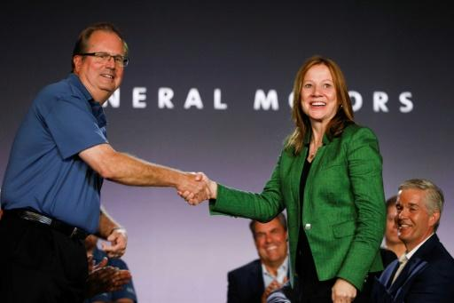 The UAW moved to expel President Gary Jones, shown here in July with General Motors CEO Mary Barra, as it seeks to move past a corruption scandal