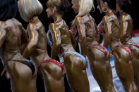 "<div class=""caption-credit"">Photo by: Tomas Hudcovic/isifa/Getty Images</div><p> Before meets, challengers and their makeup artists hunt for thick foundation closest to their body's impending fake tan. It's like an interior decorator matching pillows to curtains, only the stakes are higher. ""Judges will pull you aside before the show if they don't like your makeup and tell you how to change your look before the show,"" says Howlett. </p>"