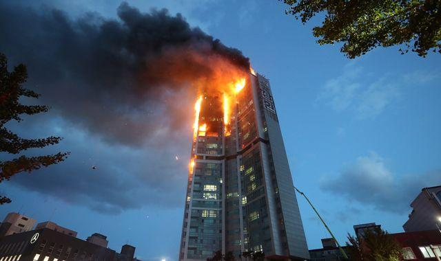 Dozens injured in fire at 33-storey tower in South Korea