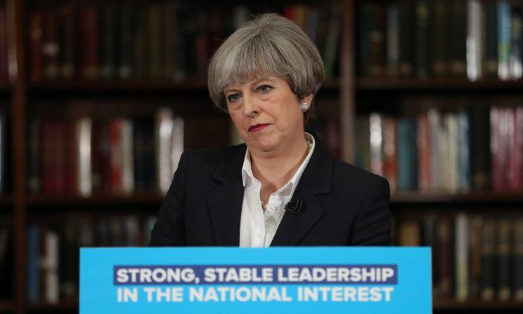The result looks set to be a disaster for Theresa May