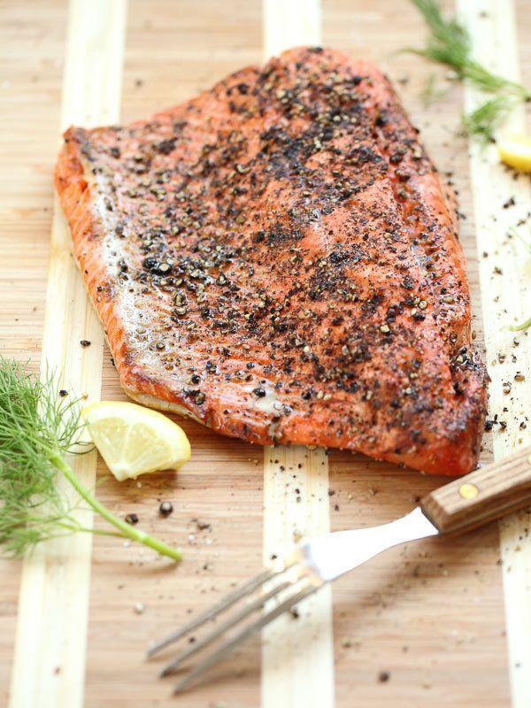 """<strong>Get the <a href=""""http://www.foodiecrush.com/2013/07/grilled-salmon-fillet-with-cucumber-dill-sauce/"""" target=""""_blank"""">Grilled Salmon Filet with Cucumber Dill Sauce recipe</a> from Foodie Crush</strong>"""