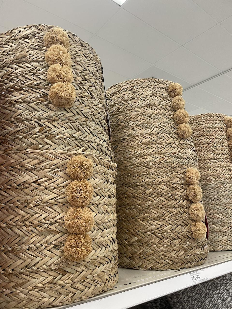 <p>This <span>Opalhouse Natural Braided Seagrass Round Basket</span> ($30) is exactly what I've been searching for to store all my blankets. It would also be great for pet toys or even books.</p>