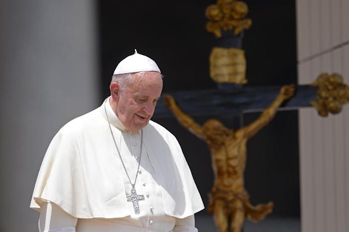 Pope Francis has accepted the resignation of two US bishops (AFP Photo/Filippo Monteforte)