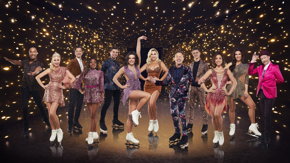 Colin Jackson CBE, Denise Van Outen, Graham Bell, Lady Leshurr, Sonny Jay, Faye Brookes, Billie Shepherd, Jason Donovan, Joe-Warren Plant, Myleene Klass, Rebekhah Vardy and Rufus Hound are competing in DOI 2021. (ITV)
