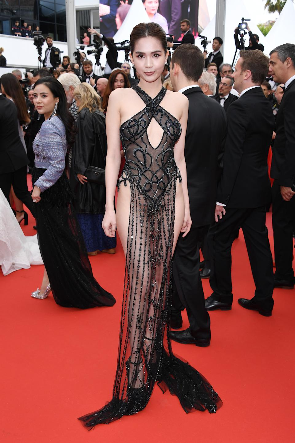 """CANNES, FRANCE - MAY 19: Ngoc Trinh attends the screening of """"A Hidden Life (Une Vie Cachée)"""" during the 72nd annual Cannes Film Festival on May 19, 2019 in Cannes, France. (Photo by Daniele Venturelli/WireImage)"""