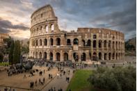 The Colosseum in Roma, Italy. Heritage sites around the world are under threat due to conditions created by climate change. Increased risk for floods or fire put some of the world's most famous monuments and locations in jeopardy. (Getty)
