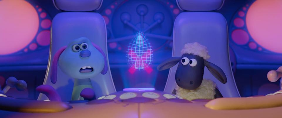 """<p><strong>Netflix's Description:</strong> """"Shaun and the flock race to help an adorable alien find her way home after her ship crash-lands near Mossy Bottom Farm and sparks a UFO frenzy.""""</p> <p><a href=""""https://www.netflix.com/title/80242602"""" class=""""link rapid-noclick-resp"""" rel=""""nofollow noopener"""" target=""""_blank"""" data-ylk=""""slk:Stream A Shaun the Sheep Movie: Farmageddon on Netflix!"""">Stream <strong>A Shaun the Sheep Movie: Farmageddon</strong> on Netflix!</a></p>"""
