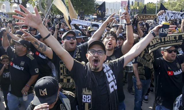 """<span class=""""element-image__caption"""">Los Angeles FC fans may well be celebrating at the end of the MLS Cup final.</span> <span class=""""element-image__credit"""">Photograph: Ringo HW Chiu/AP</span>"""