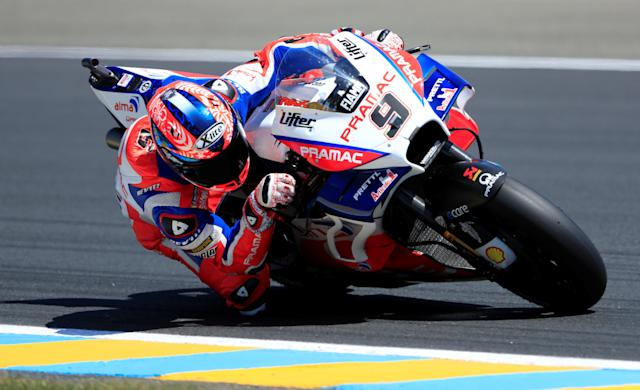 Motorcycling - MotoGP - French Grand Prix - Bugatti Circuit, Le Mans, France - May 19, 2018 Alma Pramac Racing's Danilo Petrucci during practice REUTERS/Gonzalo Fuentes