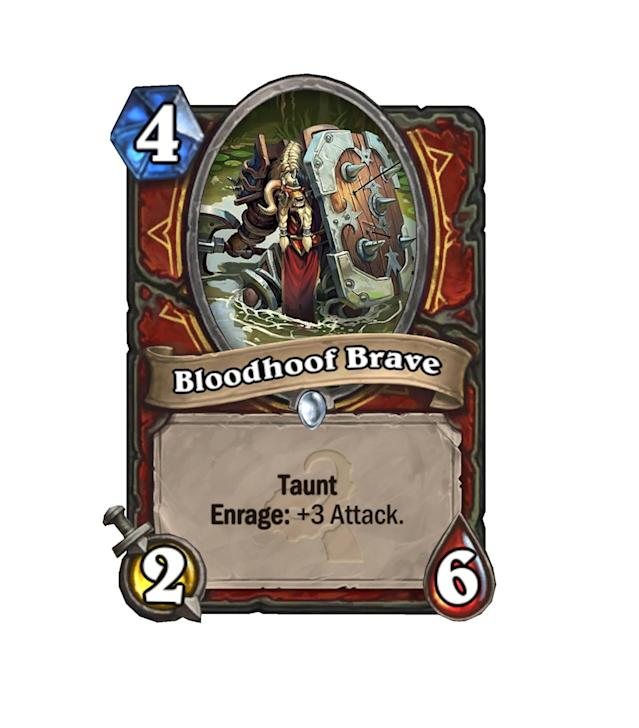 <p>Almost guaranteed to get his Enrage off, Bloodhoof Brave will be doing work in Warrior Arena decks, but isn't quite efficient enough for constructed. </p>