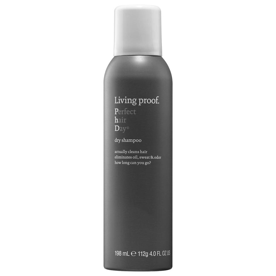 "<p>""I hate styling my hair, so when I finally muster up the energy to do it, I rely on the <span>Living Proof Perfect Hair Day Dry Shampoo</span> ($26) to extend it as long as possible. Just a little bit goes a long way in keeping my roots looking clean and oil-free. It doesn't leave behind visible powder like other formulas, which is a must, as I have dark hair. I'm so obsessed, I keep one at work, one in my travel bag, and one at home."" - Jessica Harrington, associate editor, Beauty</p>"