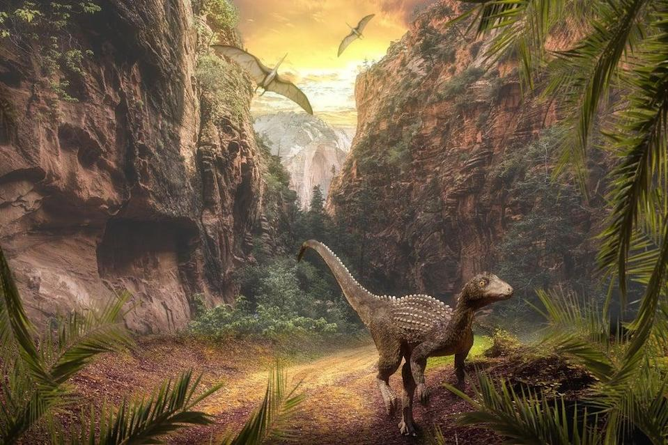 The rise of dinosaurs was helped by volcanic eruptions, research suggests (University of Birmingham/PA)