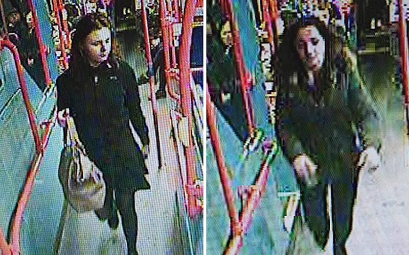 Two girls, age 13, missing with two males were last sighted on a bus on Friday.