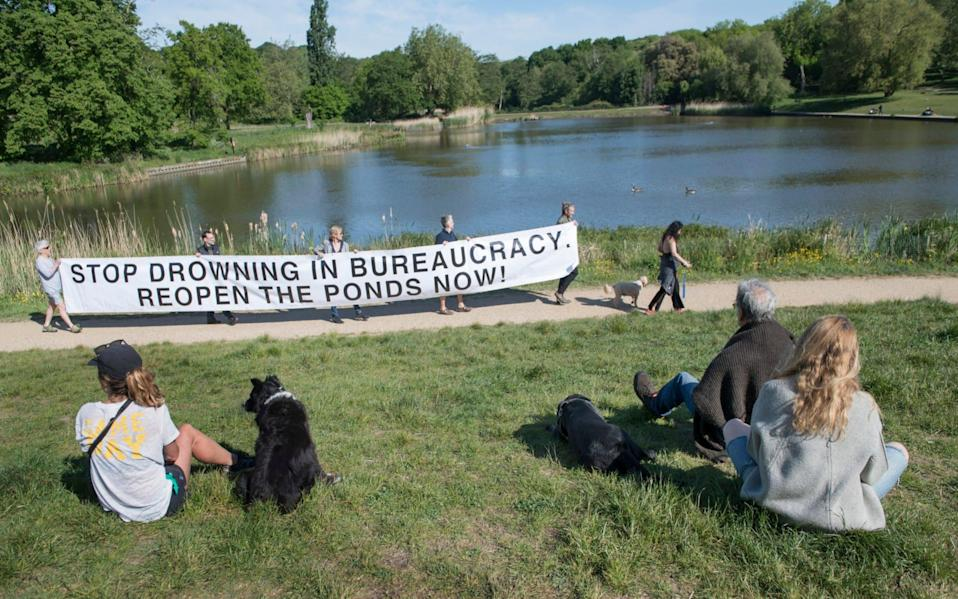 Angry swimmers have hit out at the continued closure of the famous ponds - David Rose