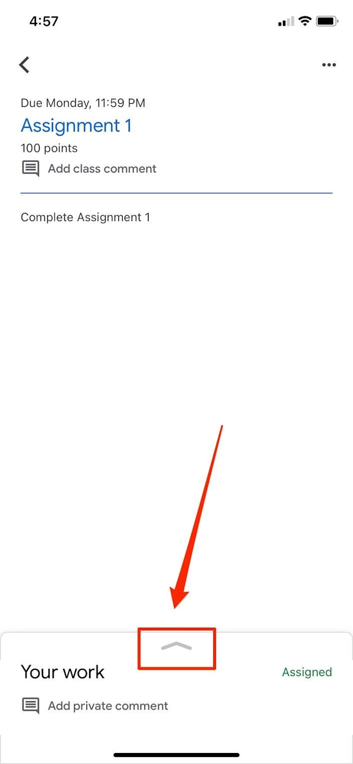 How to submit an assignment in Google Classroom   13