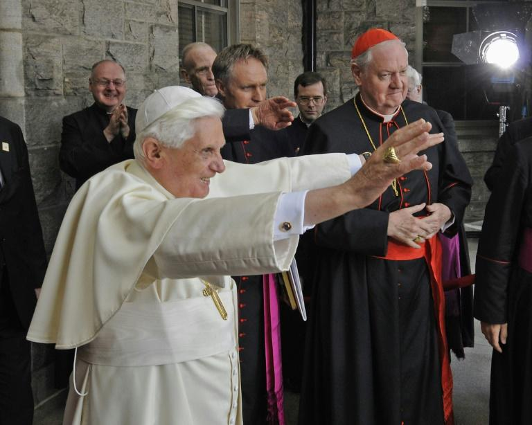 Former pope Benedict's face shingles 'improving'