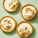 """<p>The graham cracker crust requires zero time in the oven, and the lemon filling is just 3 ingredients. Score!</p><p><em><a href=""""https://www.goodhousekeeping.com/food-recipes/dessert/a30705700/lemon-meringue-tartlets-recipe/"""" rel=""""nofollow noopener"""" target=""""_blank"""" data-ylk=""""slk:Get the recipe for Lemon Meringue Tartlets »"""" class=""""link rapid-noclick-resp"""">Get the recipe for Lemon Meringue Tartlets »</a></em> </p>"""