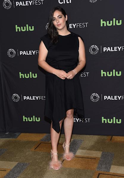 Alanna Masterson attends The Walking Dead red carpet during the 34th annual PaleyFest Los Angeles at the Dolby theatre in Hollywood, on March 17, 2017 (AFP Photo/CHRIS DELMAS)