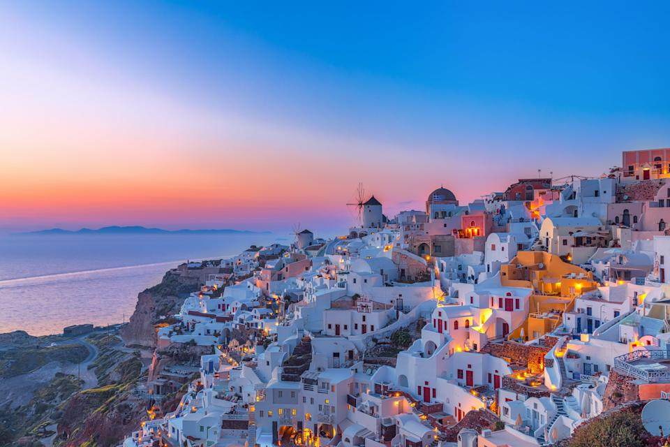 <p>Santorini might be open to Brits this summer</p> (Getty/iStock)