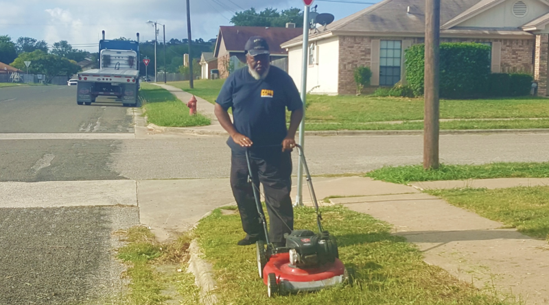 Jerry Martin, Jr., a bus driver with Copperas Cove Independent School District in Texas, went above and beyond for his young passengers when he mowed a bus stop so the students wouldn't have to stand in the tall grass. (Photo: Facebook)