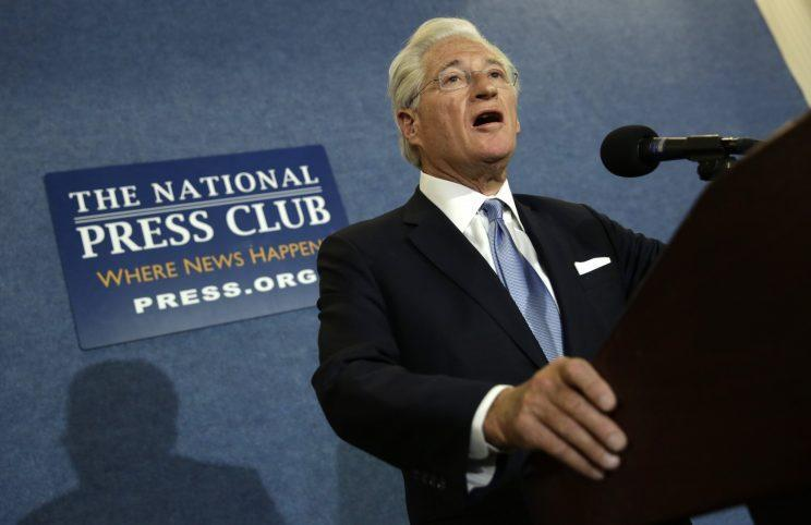 President Trump's personal attorney, Marc Kasowitz, speaks to the news media after the congressional testimony of former FBI Director James Comey at the National Press Club in Washington, June 8. (Photo: Yuri Gripas/Reuters)