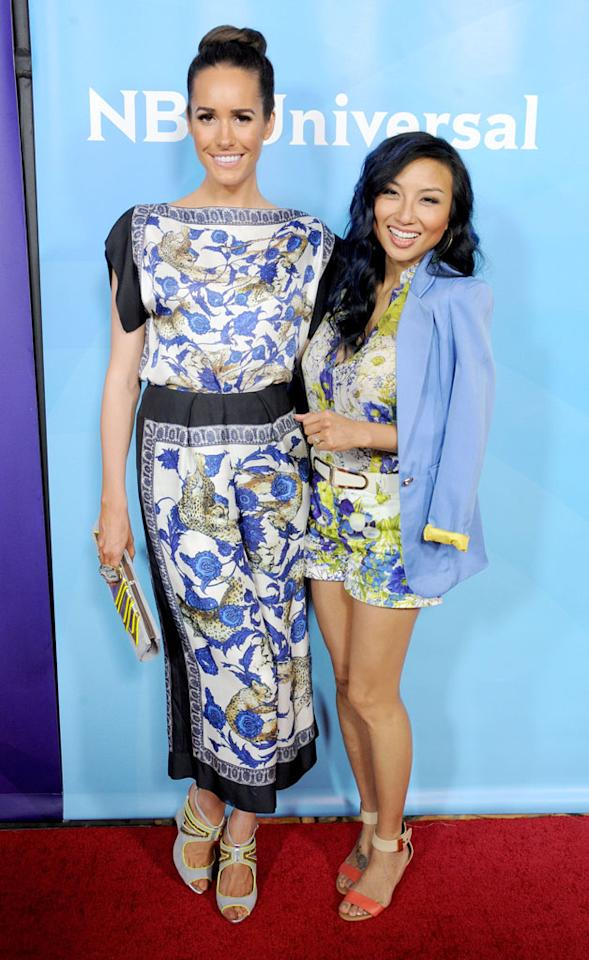 Louise Roe and Jeannie Mai attend the 2013 NBC Universal Summer Press Day held at The Langham Huntington Hotel and Spa on April 22, 2013 in Pasadena, California.