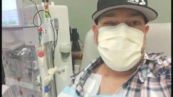 PHOTO: Shaun Evans of Cartersville, Georgia, shares a video diary of his experience undergoing dialysis for his kidneys, which were damaged from COVID-19 in March 2020.  (Courtesy of Shaun Evans )