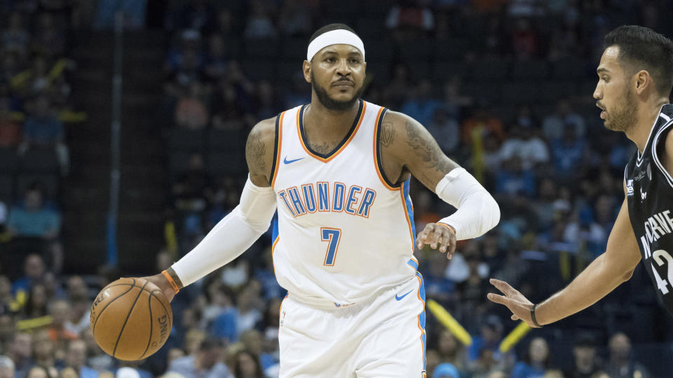 Carmelo Anthony is headed in another direction, but what about his career? (AP)