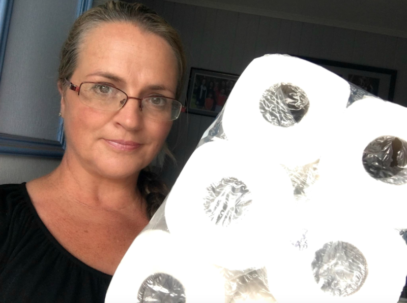 Jeni Bonell has hit back after being shamed for buying toilet roll. Photo: Facebook/The Bonell Family
