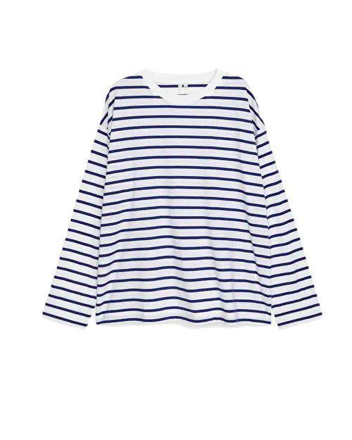 """<p>Arket Striped Pima Cotton Top – £25.00</p><p><a class=""""link rapid-noclick-resp"""" href=""""https://go.redirectingat.com?id=127X1599956&url=https%3A%2F%2Fwww.arket.com%2Fen_gbp%2Fwomen%2Ftops%2Fproduct.oversized-pima-cotton-t-shirt-blue.0967941004.html&sref=https%3A%2F%2Fwww.elle.com%2Fuk%2Ffashion%2Fwhat-to-wear%2Farticles%2Fg31862%2Fthe-10-items-you-need-in-your-capsule-holiday-wardrobe%2F"""" rel=""""nofollow noopener"""" target=""""_blank"""" data-ylk=""""slk:SHOP NOW"""">SHOP NOW</a></p><p>It's safe to say 2021 is the year of the <a href=""""https://www.elle.com/uk/life-and-culture/travel/g36092668/best-staycations-uk/"""" rel=""""nofollow noopener"""" target=""""_blank"""" data-ylk=""""slk:staycation"""" class=""""link rapid-noclick-resp"""">staycation</a>. So, since most of us will be living it up in <a href=""""https://www.elle.com/uk/life-and-culture/travel/g36045280/best-beaches-cornwall/"""" rel=""""nofollow noopener"""" target=""""_blank"""" data-ylk=""""slk:Cornwall"""" class=""""link rapid-noclick-resp"""">Cornwall</a> rather than the Caribbean, we obviously had to include a Breton top in this edit. Arket's is true to the OG style with its navy stripes and dropped shoulders, but the soft Pima cotton jersey makes it much more comfortable. Amp up the nautical vibes with selvedge denim and a neckerchief when you're by the British coast.</p>"""