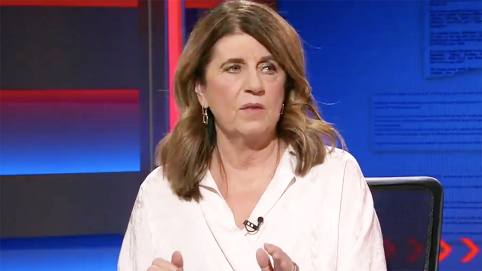 Caroline Wilson's suggestion St Kilda were 'disappointed' in two players who missed the last round to be with their families has been labelled 'idiotic' by Richmond star jack Riewoldt. Picture: Channel 9/Footy Classified