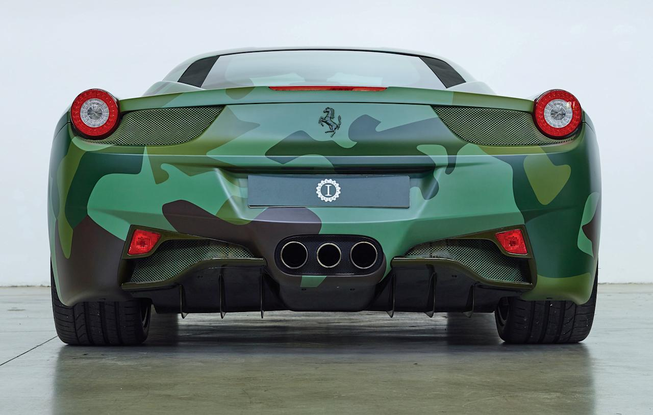 <p>The one-of-a-kind version 458 was sold at a charity auction last year for €1,000,000, about £920,000. </p>