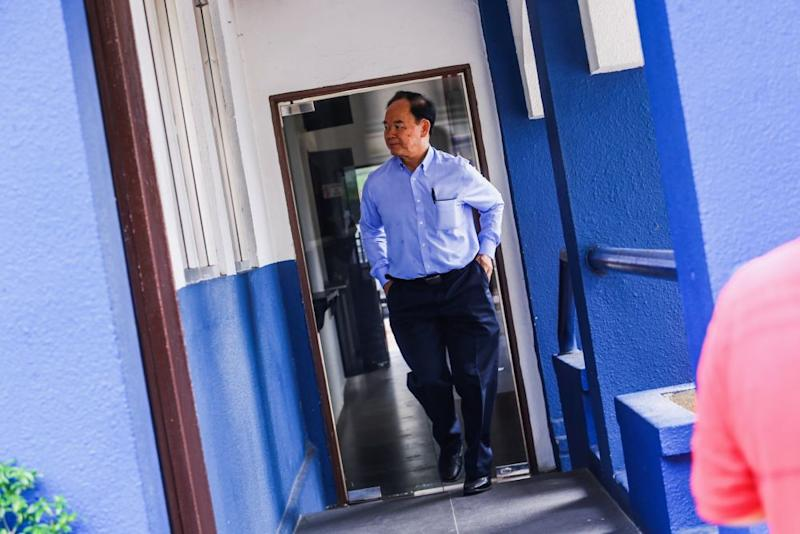 Dong Zong chairman Tan Tai Kim arrives at the Bukit Aman police headquarters in Kuala Lumpur August 22, 2019. — Picture by Hari Anggara