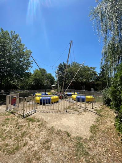 A non-functioning bungee-jump ride at the Greater Wynnewood Exotic Animal Park.