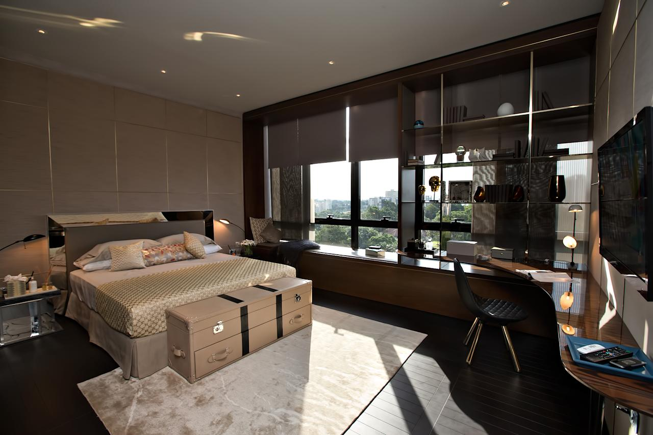 Master bedroom with in-built bathroom at the Hamilton Scotts luxury residence in Singapore (Yahoo! photo)