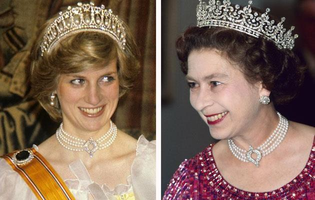 Diana has also borrowed the necklace before. Photo: Australscope and Getty