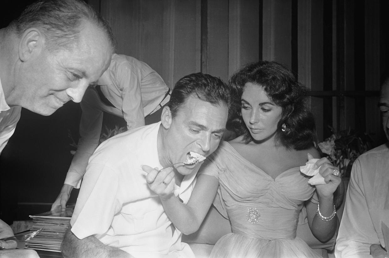 Actress Elizabeth Taylor and Mike Todd at Their Wedding