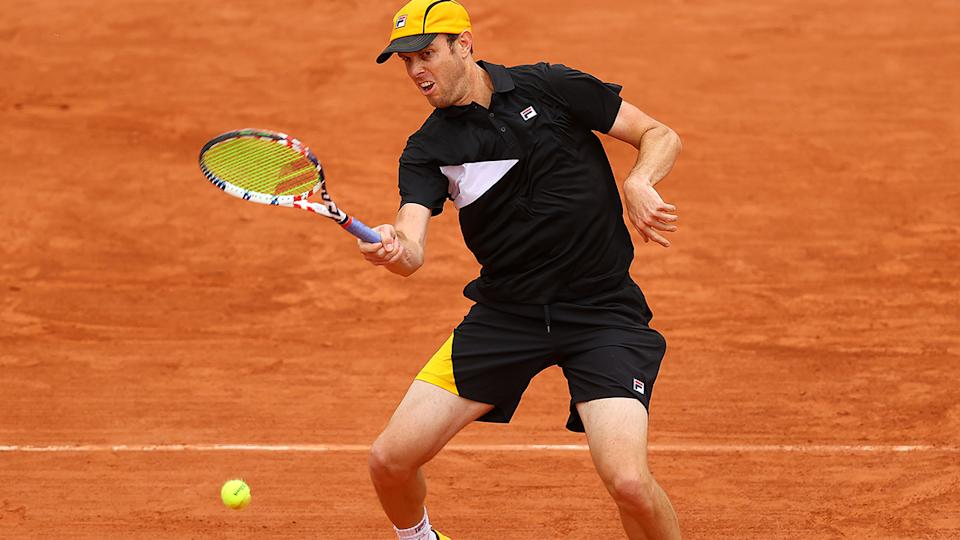 Sam Querrey, pictured here in action at the 2020 French Open.