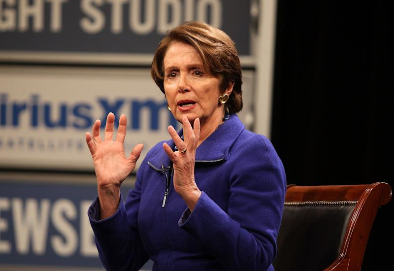 Democratic Leader Nancy Pelosi answers questions during the 'SiriusXM Leading Ladies' series hosted by SiriusXM host/veteran White House correspondent Julie Mason at The Newseum on March 4, 2014 in Washington, D.C. (Photo by Paul Morigi/Getty Images for SiriusXM)