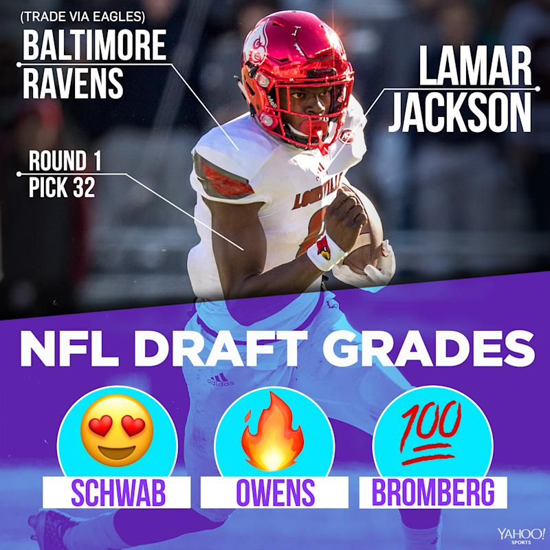 32. Baltimore Ravens (via Eagles)  Lamar Jackson 4eeb0b418
