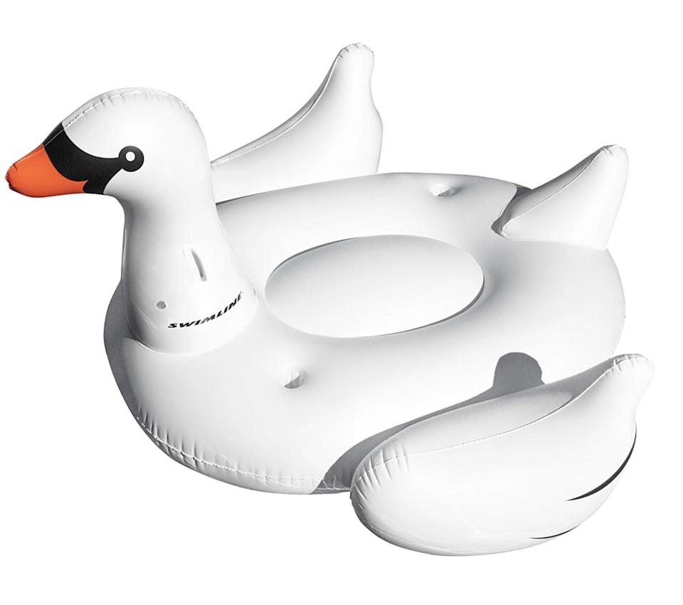 <p><span>Swimline Inflatable Swan Pool Float with Cup Holders</span> ($30, originally $40)</p>