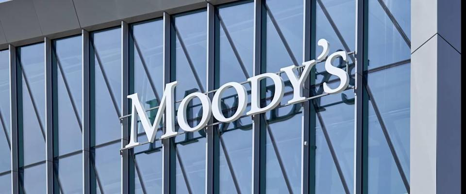 Moody's logo on new office building
