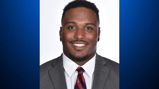 Duquesne running back Marquis Brown allegedly jumped from a 16th-story window and died on Thursday. (Duquesne University)