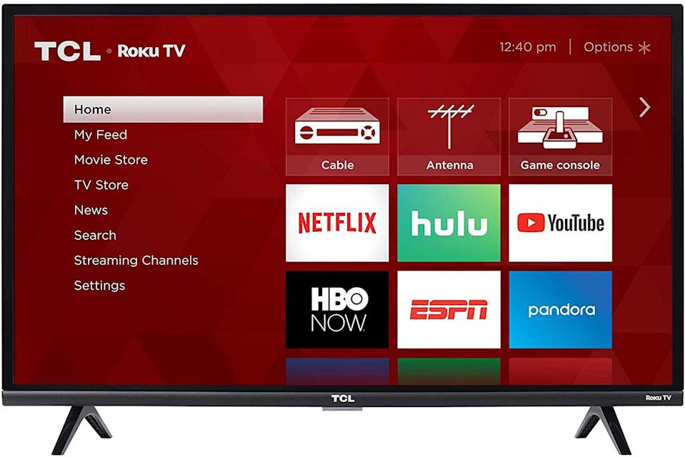 "<br><br><strong>TCL</strong> TCL 32-Inch 1080p ROKU Smart LED TV, $, available at <a href=""https://www.amazon.com/dp/B07F981R8M"" rel=""nofollow noopener"" target=""_blank"" data-ylk=""slk:Amazon"" class=""link rapid-noclick-resp"">Amazon</a>"