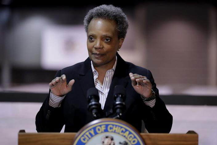 "Chicago Mayor Lori Lightfoot has said the federal government should focus on gun control measures if it wants to help reduce violence in her city. <span class=""copyright"">(Nam Y. Huh / Associated Press)</span>"