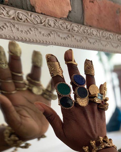 """<p>Another jewelry brand you may recognize from <em>Black Is King</em>. Pretty sure I will never get over all these chic rings on one hand. </p><p><strong>Website:</strong> <a href=""""https://www.lenchanteur.co"""" rel=""""nofollow noopener"""" target=""""_blank"""" data-ylk=""""slk:lenchanteur.co"""" class=""""link rapid-noclick-resp"""">lenchanteur.co</a></p><p><a href=""""https://www.instagram.com/p/CBTg6IfpphZ/"""" rel=""""nofollow noopener"""" target=""""_blank"""" data-ylk=""""slk:See the original post on Instagram"""" class=""""link rapid-noclick-resp"""">See the original post on Instagram</a></p>"""